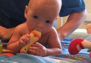 Детский массаж грудному ребёнку
